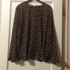 Ann Taylor Floral long sleeves top